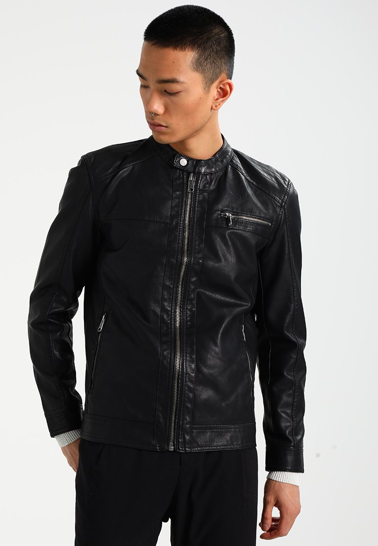 Only & Sons - ONSKONRAD - Faux leather jacket - black