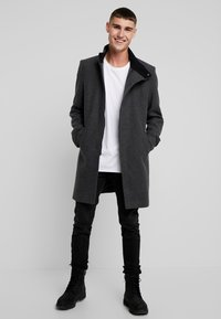 Only & Sons - ONSOSCAR COAT - Classic coat - dark grey melange - 1