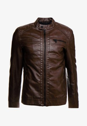 ONSAL  - Faux leather jacket - slate black