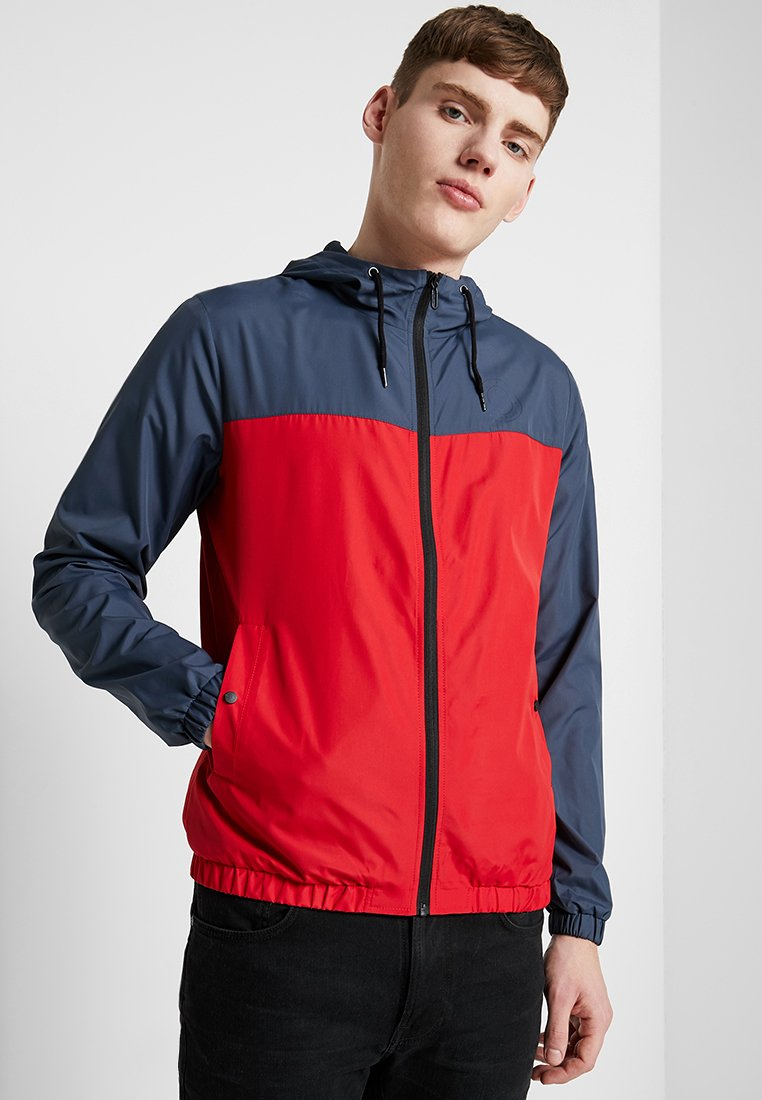 Only & Sons - ONSCHETTA COLOUR BLOCK HOOD JACKET - Leichte Jacke - haute red