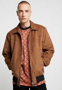 Only & Sons - ONSLEBRON JACKET - Faux leather jacket - monks robe - 0