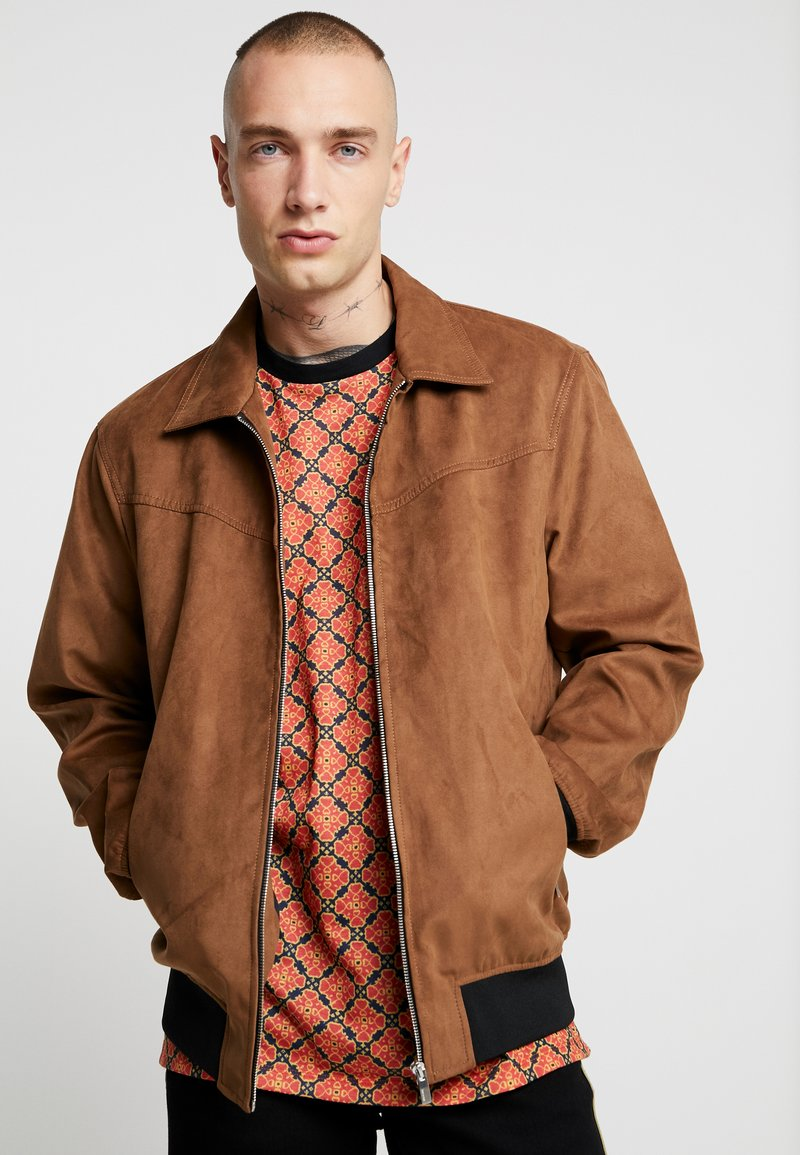 Only & Sons - ONSLEBRON JACKET - Faux leather jacket - monks robe