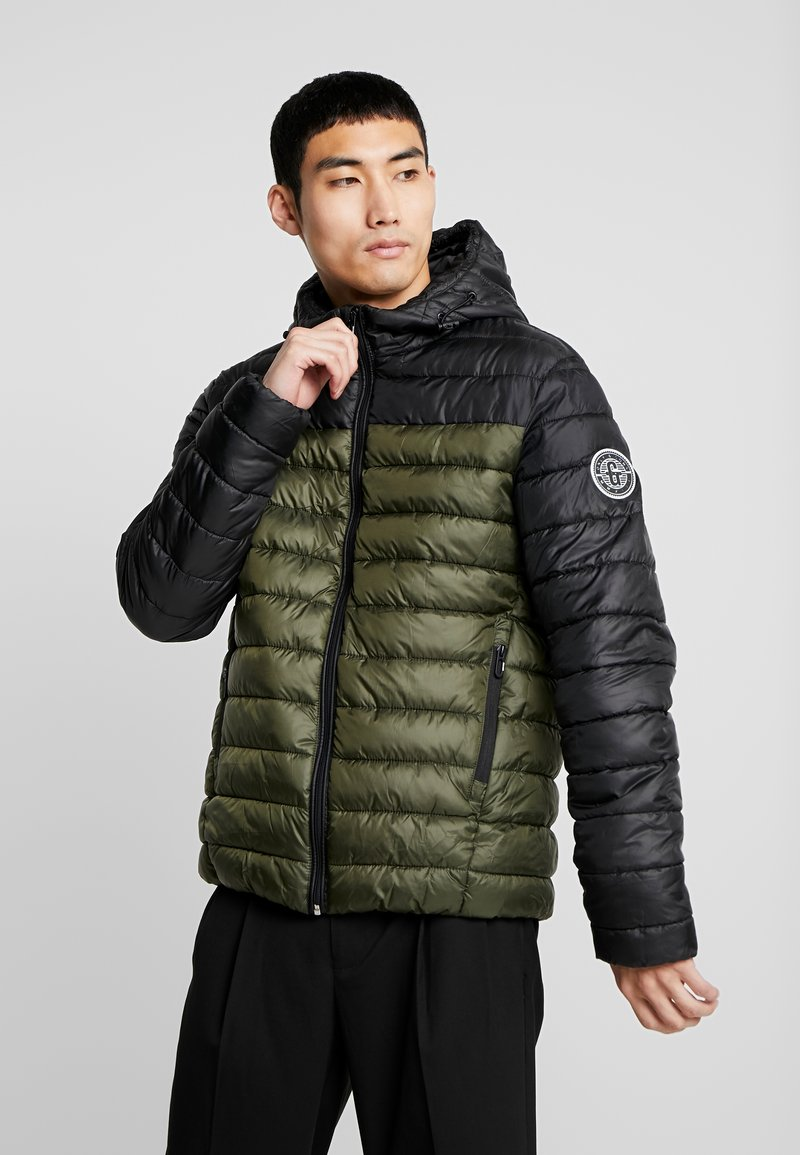 Only & Sons - ONSSTEVEN QUILTED HOOD JACKET - Light jacket - forest night