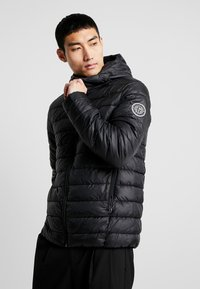 Only & Sons - ONSSTEVEN QUILTED HOOD JACKET - Chaqueta de entretiempo - black/solid - 0