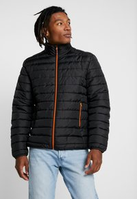 Only & Sons - ONSGEORGE QUILTED HIGHNECK - Jas - black - 0