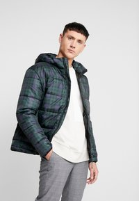 Only & Sons - ONSRICK CHECK HOODIE PUFFER  - Winterjas - forest night - 0