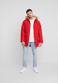Only & Sons - ONSBASIL JACKET NOOS - Winter coat - pompeian red - 1