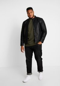 Only & Sons - ONSMIKE RACER JACKET  - Faux leather jacket - black - 1