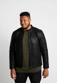 Only & Sons - ONSMIKE RACER JACKET  - Faux leather jacket - black - 0