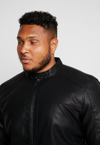 Only & Sons - ONSMIKE RACER JACKET  - Faux leather jacket - black - 4