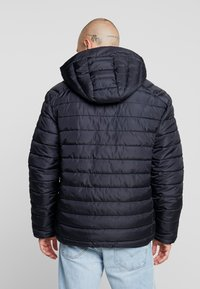 Only & Sons - ONSGEORGE QUILTED HOOD - Lett jakke - dark navy - 2