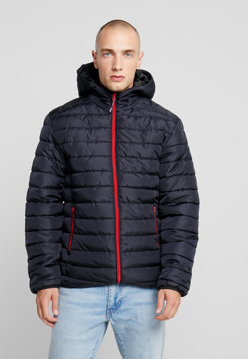 Only & Sons - ONSGEORGE QUILTED HOOD - Lett jakke - dark navy