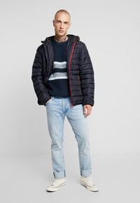 Only & Sons - ONSGEORGE QUILTED HOOD - Lett jakke - dark navy - 1