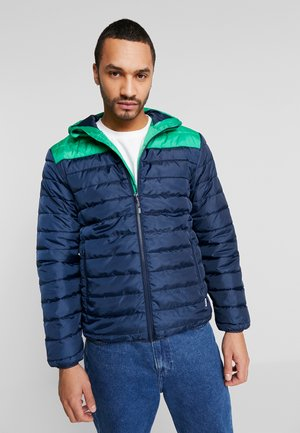 ONSGEORGE QUILTED HOOD - Lehká bunda - medium green/colourblock