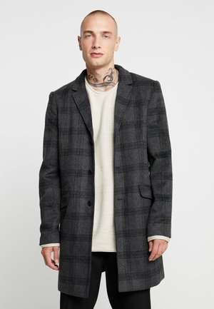 ONSJULIAN CHECK COAT - Krátký kabát - dark grey melange