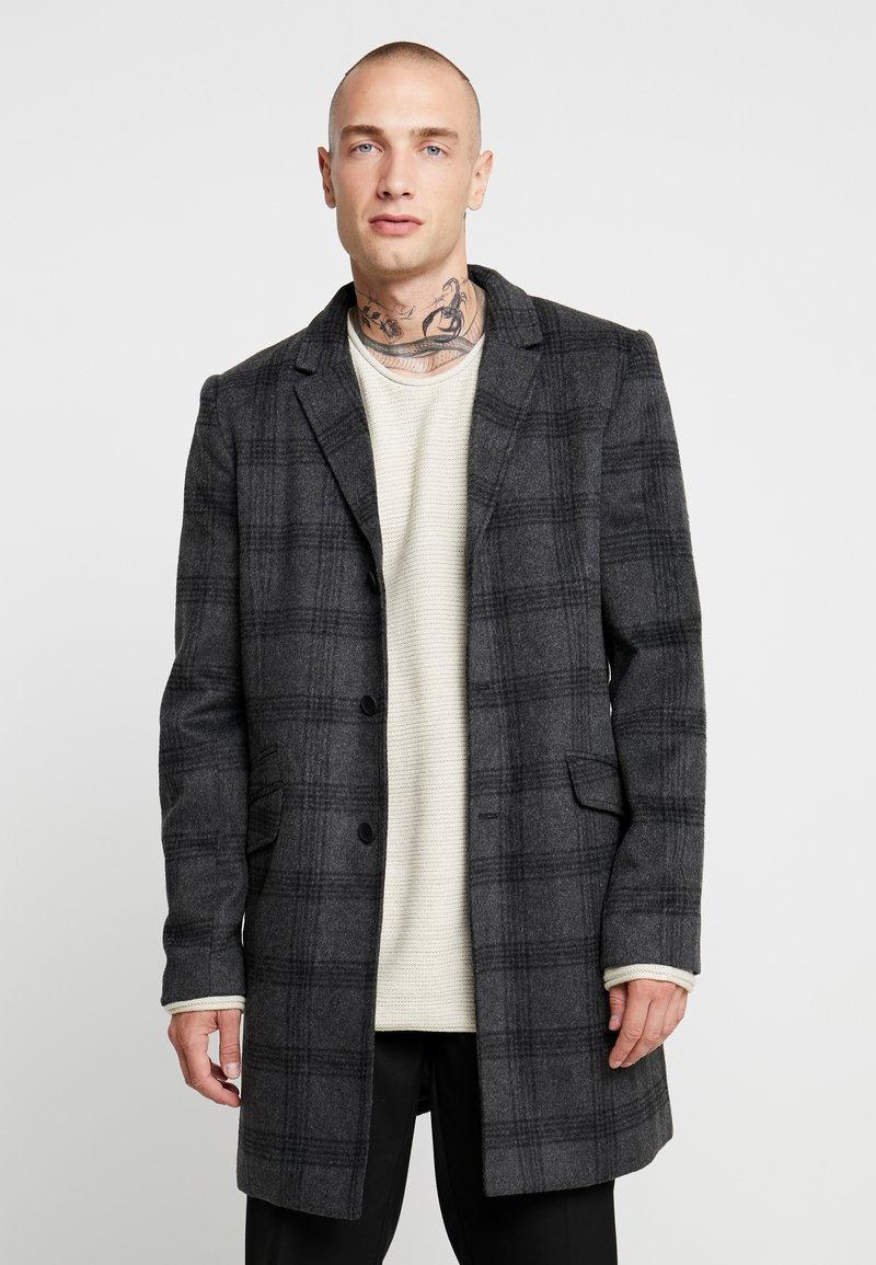 Only & Sons - ONSJULIAN CHECK COAT - Krátký kabát - dark grey melange
