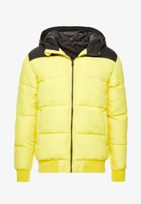 Only & Sons - ONSBOSTON QUILTED BLOCK HOOD - Light jacket - vibrant yellow - 4