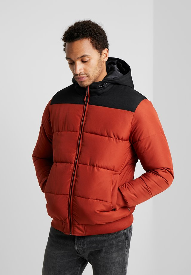 ONSBOSTON QUILTED BLOCK HOOD - Jas - burnt henna