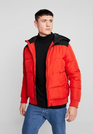 ONSBOSTON QUILTED BLOCK HOOD - Light jacket - pompeian red