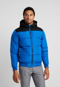 Only & Sons - ONSBOSTON QUILTED BLOCK HOOD - Light jacket - baleine blue - 0