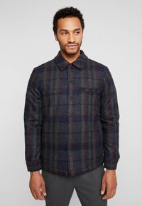 Only & Sons - ONSDEAN CHECK - Chaqueta de entretiempo - dark navy - 0