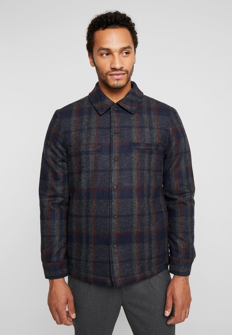 Only & Sons - ONSDEAN CHECK - Chaqueta de entretiempo - dark navy