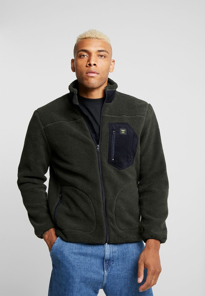 Only & Sons - ONSDOMINIC SHERPA HIGHNECK  - Fleece jacket - forest night