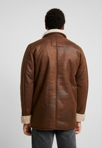 Only & Sons - ONSLAUST JACKET - Faux leather jacket - brown - 2