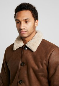 Only & Sons - ONSLAUST JACKET - Faux leather jacket - brown - 4