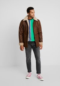 Only & Sons - ONSLAUST JACKET - Faux leather jacket - brown - 1