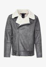 ONSCHASE AVIATOR BIKER JACKET - Leather jacket - dark grey
