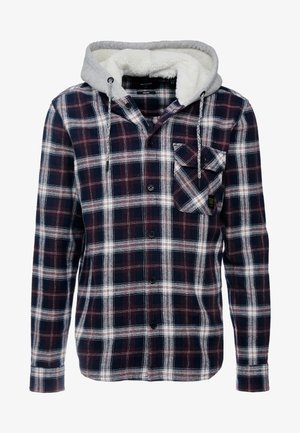 ONSGLEN CHECKED HOODIE OVERSHIRT - Lehká bunda - madder brown