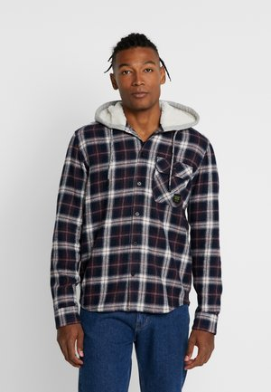 ONSGLEN CHECKED HOODIE OVERSHIRT - Kevyt takki - madder brown