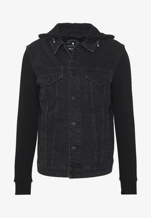ONSCOIN HOOD TRUCKER - Denim jacket - black denim