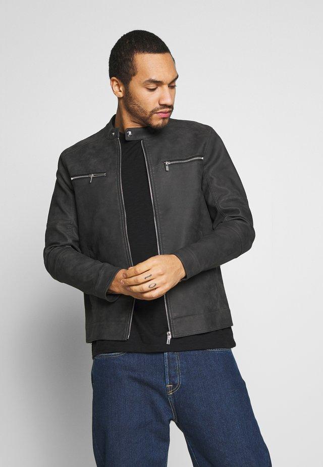 ONSFAVOUR JUPITER  - Faux leather jacket - phantom