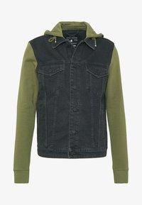 Only & Sons - ONSCOIN HOOD TRUCKER - Denim jacket - black denim - 4