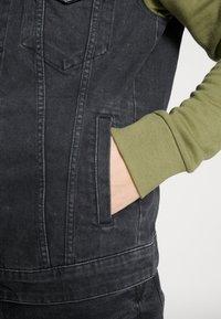 Only & Sons - ONSCOIN HOOD TRUCKER - Denim jacket - black denim - 3