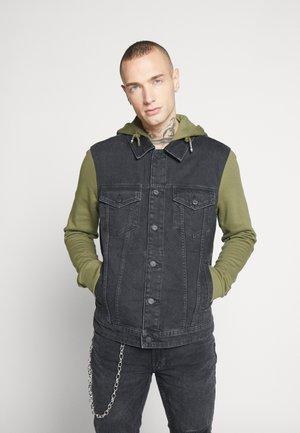 ONSCOIN HOOD TRUCKER - Kurtka jeansowa - black denim