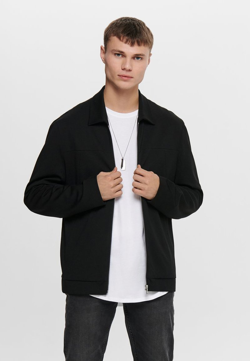 Only & Sons - Chaqueta fina - black