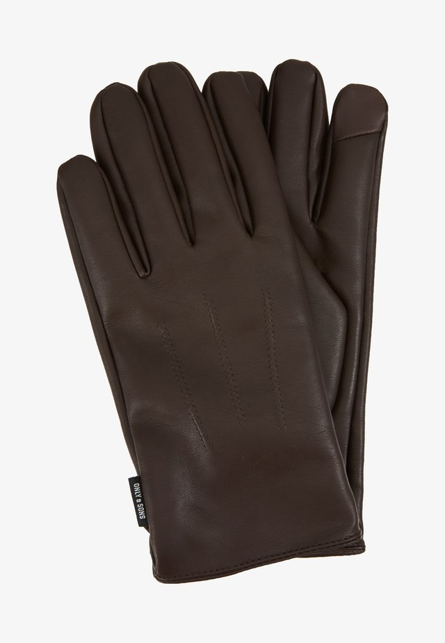 ONSCLAS GLOVE - Fingervantar - brown stone