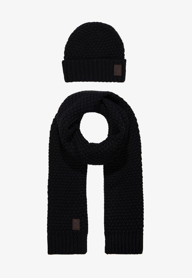 ONSCENZ BOX SCARF BEANIE SET - Schal - black