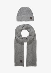 Only & Sons - ONSEMILE BOX SCARF BEANIE SET - Scarf - light grey - 1