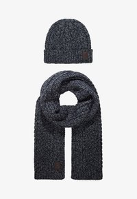 Only & Sons - ONSERIK BOX SCARF BEANIE  - Scarf - black - 3