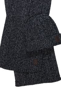 Only & Sons - ONSERIK BOX SCARF BEANIE  - Scarf - black - 6