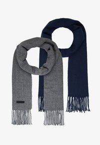 Only & Sons - ONSCARLO SCARF 2 PACK - Huivi - medium grey melange /dress blue - 2