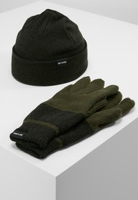 Only & Sons - ONSX-BOX GLOVES BEANIE SET - Guantes - forest night - 0