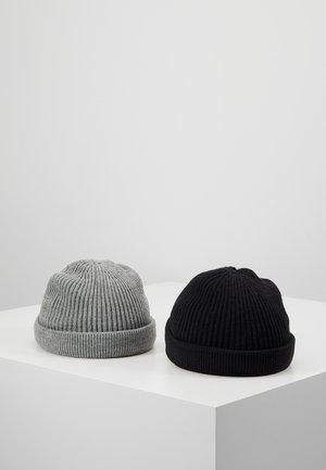 ONSSHORT BEANIE 2 PACK - Muts - black/grey melange