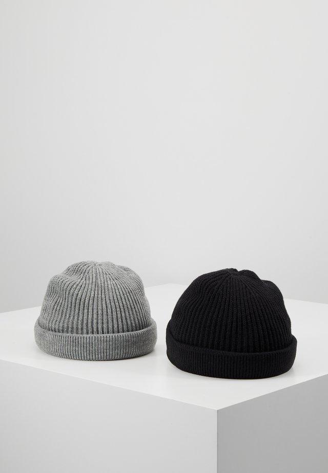 ONSSHORT BEANIE 2 PACK - Mössa - black/grey melange