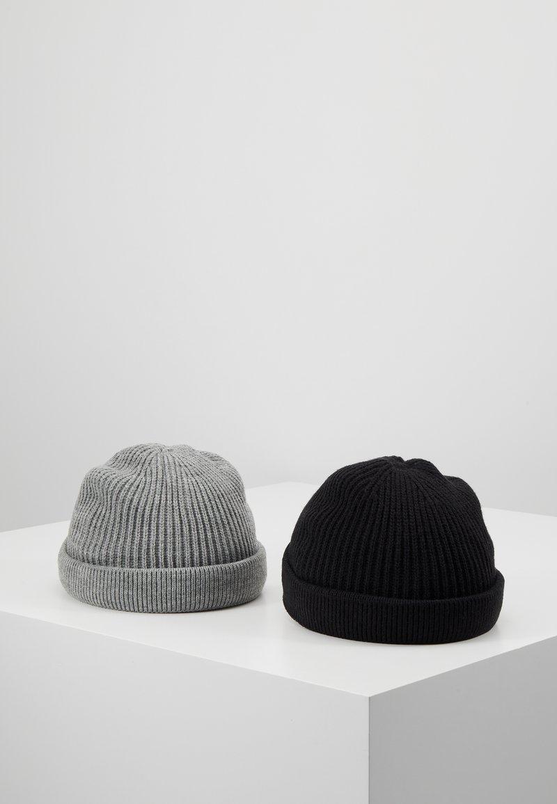 Only & Sons - ONSSHORT BEANIE 2 PACK - Beanie - black/grey melange