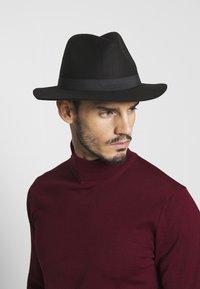 Only & Sons - ONSCARLO FEDORA HAT - Klobouk - black - 1